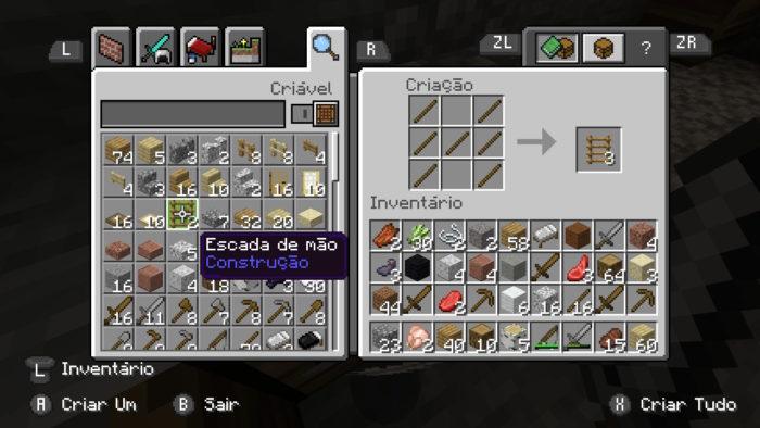Como fazer uma escada de mão no Minecraft / Felipe Vinha / Reprodução