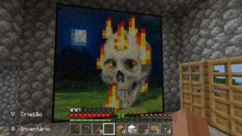 Como fazer quadro no Minecraft