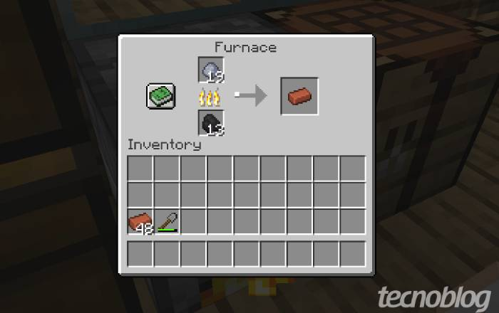 Como fazer tijolo no Minecraft / Diego Melo / Reprodução