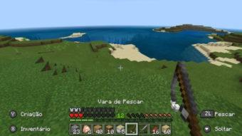 Como fazer uma vara de pescar no Minecraft