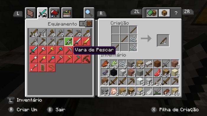 Como fazer uma vara de pescar no Minecraft / Felipe Vinha / Reprodução