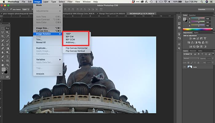 Como girar uma imagem no Photoshop