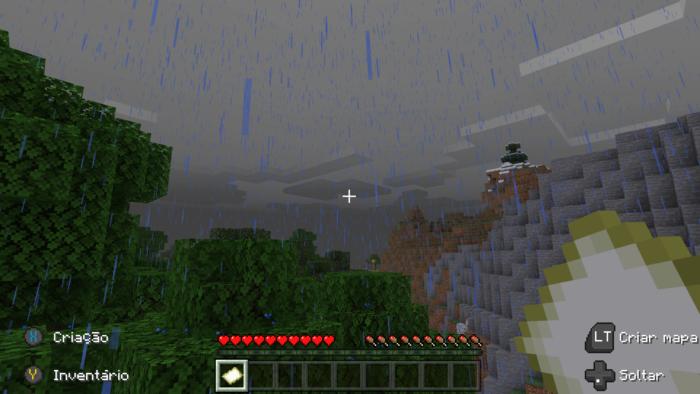 como tirar a chuva do minecraft / screenshot / reprodução