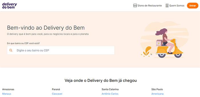 Como funciona o Delivery do Bem / Karla Soares / Reprodução