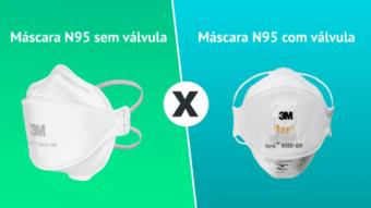 Máscara N95 comum ou com válvula; qual a diferença?