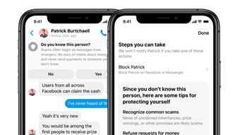 Facebook Messenger vai alertar sobre golpes e perfis falsos