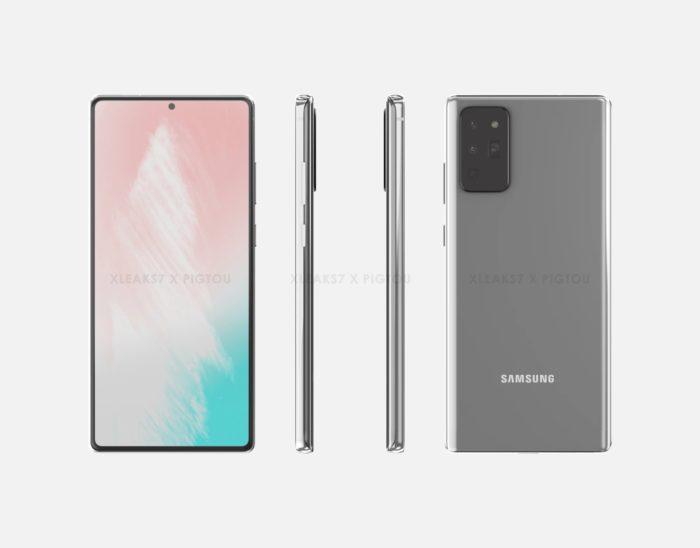 Galaxy Note 20 - renderização (imagem: Pigtou)