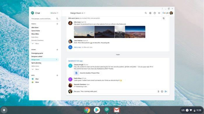 Novo aplicativo do Google Chat (Foto: Divulgação/Google)