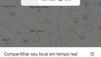 Google Maps atualiza interface para enviar localização em tempo real