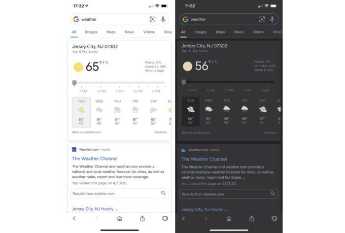Modo escuro do Google para Android e iPhone (Foto: Reprodução/MacRumors)