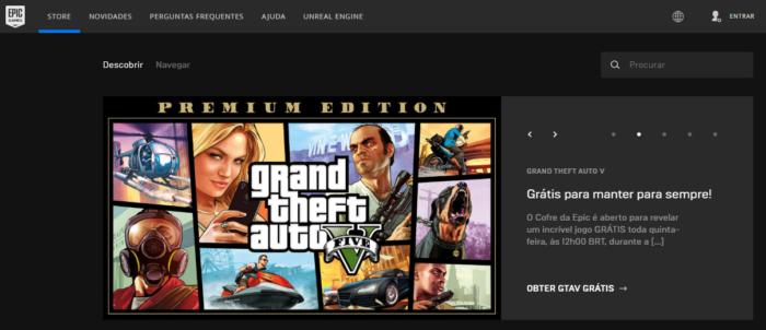 GTA 5 na Epic Games Store
