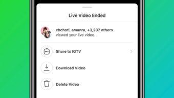 Instagram permite salvar lives no IGTV para assistir depois
