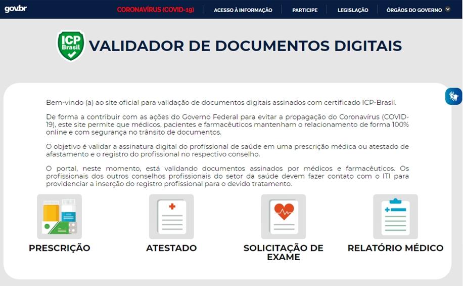 Validador de documentos digitais do ITI