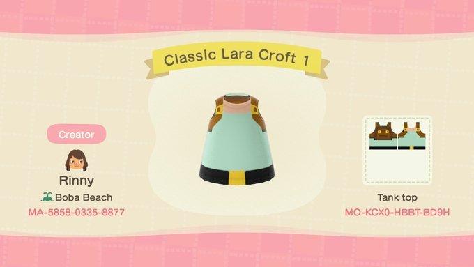 Design customizado da Lara Croft em Animal Crossing: New Horizons / Blog Tomb Raider / Reprodução
