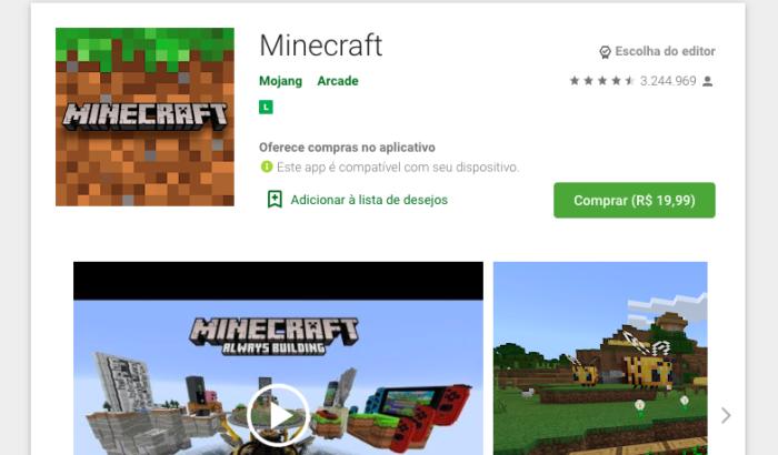 Minecraft Pocket Edition / Felipe Vinha / Reprodução