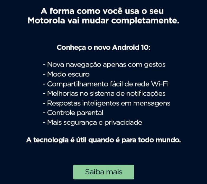 Android 10 para Moto G7 Play