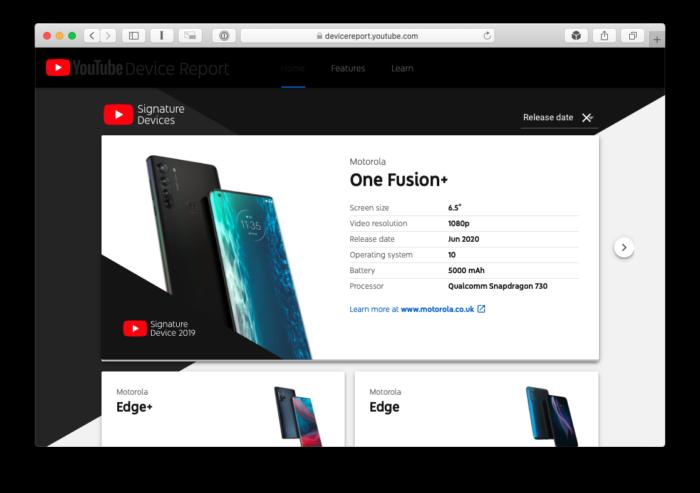 Detalhes do Motorola One Fusion+ aparecem antes da hora no YouTube (Foto: Reprodução/Bruno Gall De Blasi)