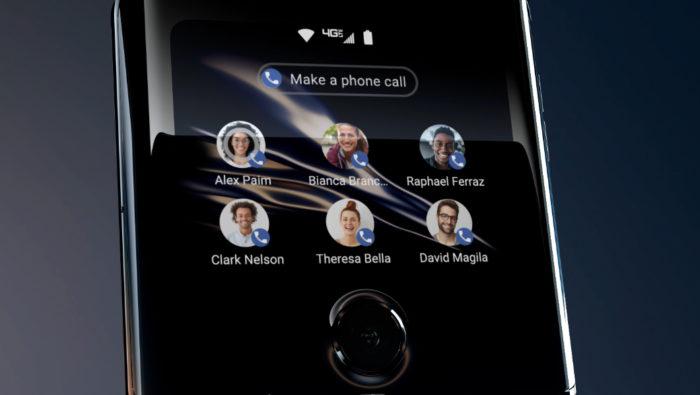 Motorola Razr contatos favoritos