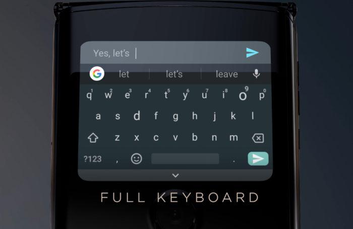 Motorola Razr teclado completo