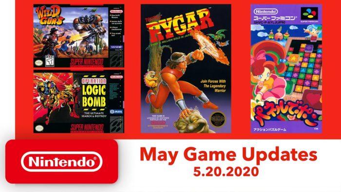 novos jodos do snes e nes que chegam no Nintendo Switch Online em maio de 2020