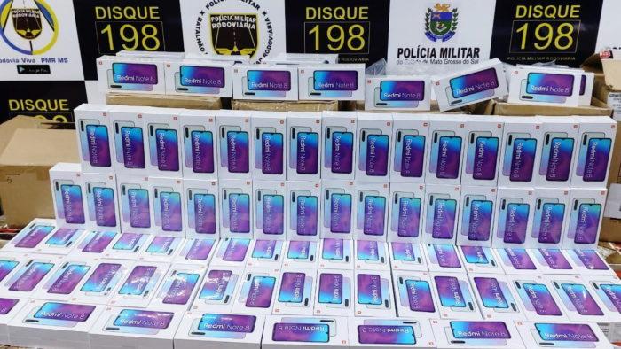 Polícia apreende celulares da Xiaomi