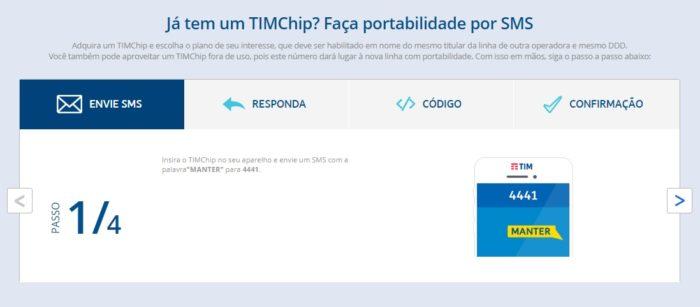 Como fazer portabilidade para TIM / Victor Hugo Felix / Captura de Tela