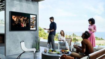 Samsung The Terrace é uma TV resistente à água para áreas abertas