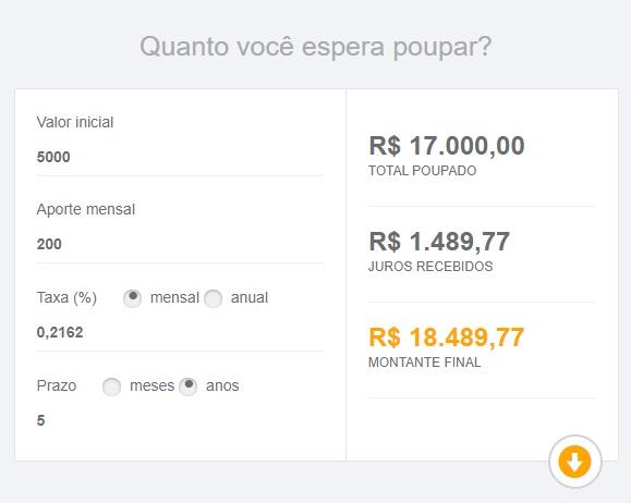 Quanto rende a poupança / Victor Hugo Felix / Captura de tela