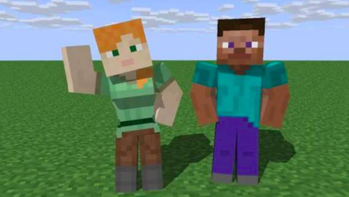 Steve e Alex no Minecraft