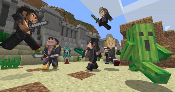 Personagens de Final Fantasy em Minecraft