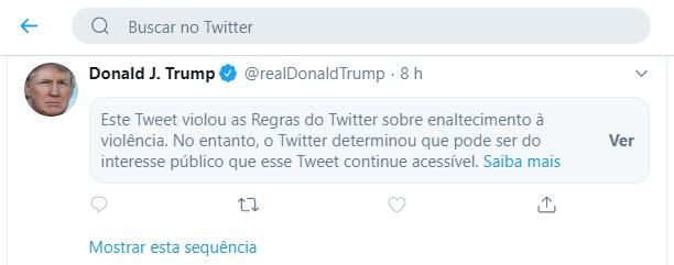 Tweet oculto de Trump