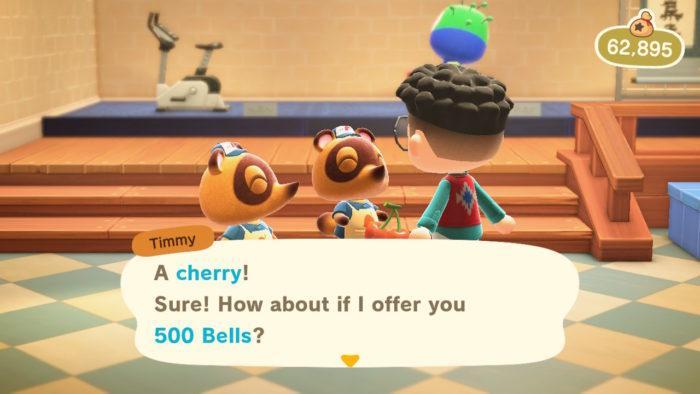 vender fruta em animal crossing new horizons / lucas lima / captura de tela