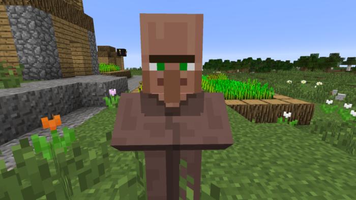 Villager comum em Minecraft