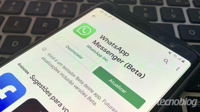 WhatsApp Beta (Foto: Bruno Gall De Blasi/Tecnoblog)