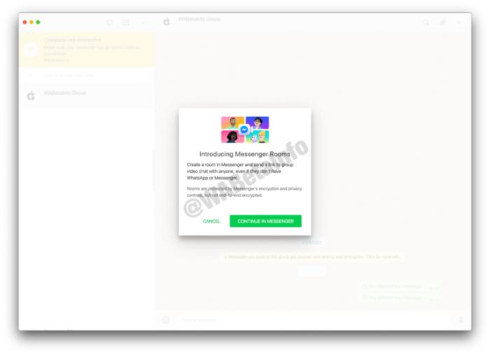 WhatsApp Web desenvolve integração com Facebook Messenger (Foto: Reprodução / WABetaInfo)