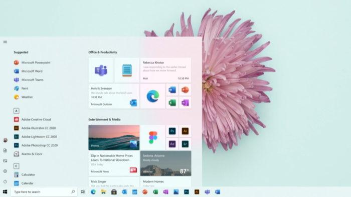 menu iniciar do Windows 10
