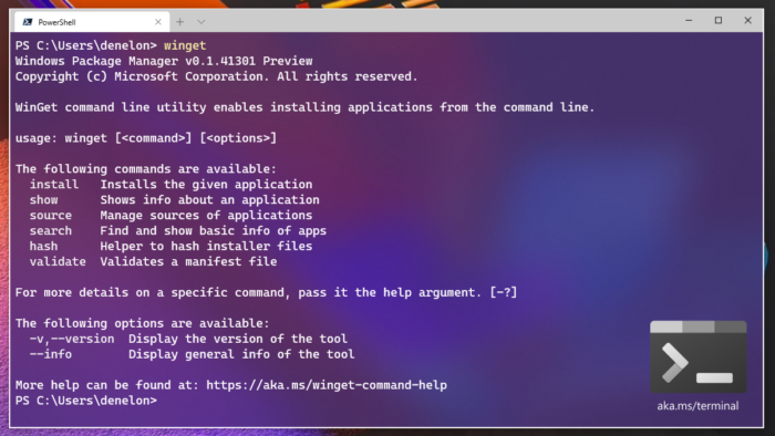 Windows Package Manager (winget)