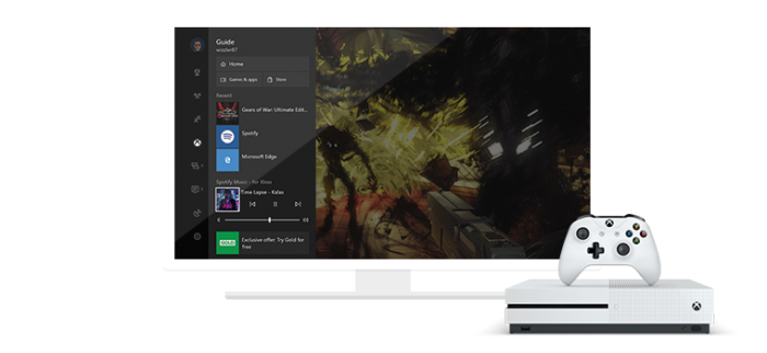 xbox game pass ultimate com Spotify na tv