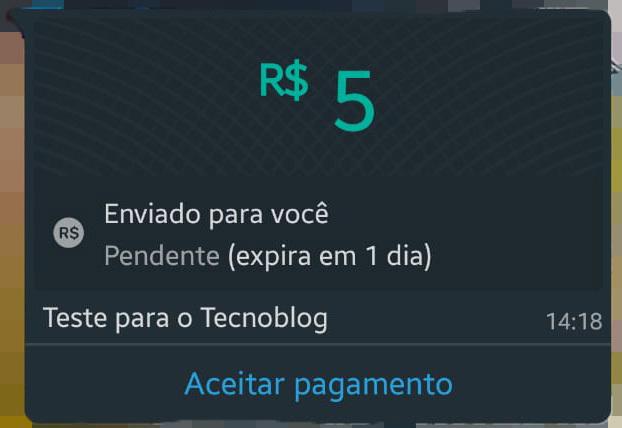 aceitar pagamento whatsapp