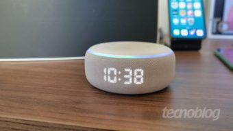 Amazon Echo Dot com relógio: para botar do lado da cama