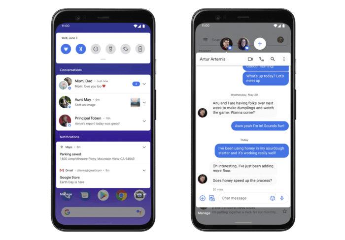 Notificações do Android 11 (Foto: Reprodução/Google)