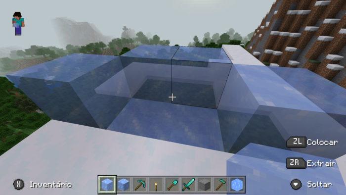 bloco de gelo no minecraft / Felipe Vinha / Reprodução