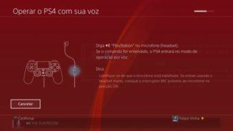 Como usar comandos de voz no Playstation 4
