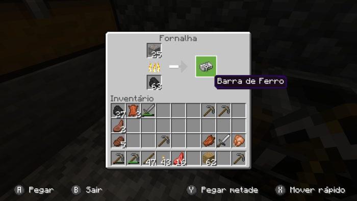 Como achar ou fazer ferro no Minecraft / Felipe Vinha / Reprodução