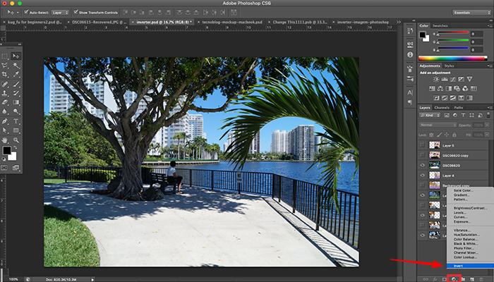 Como inverter cores no Photoshop
