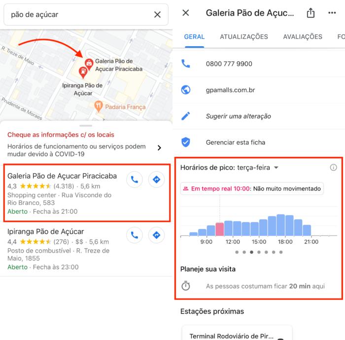 Horário de Pico no Google Maps