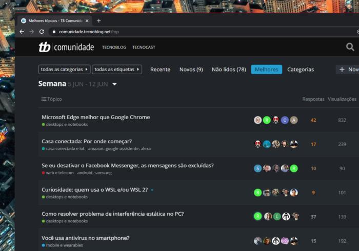 comunidade tecnoblog semana 21
