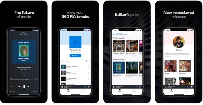 Deezer 360 Reality Audio / App Store / Reprodução