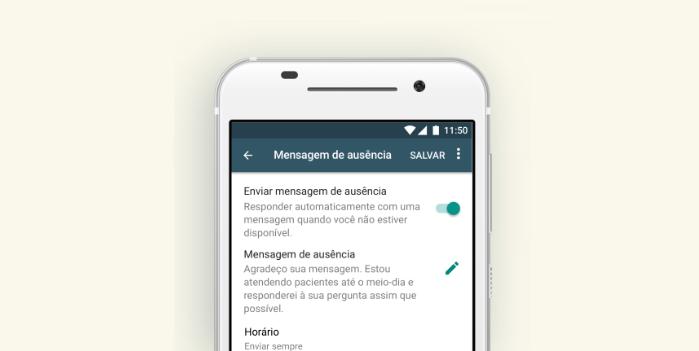 Mensagem de ausência do WhatsApp/Reprodução/Gabrielle Lancellotti