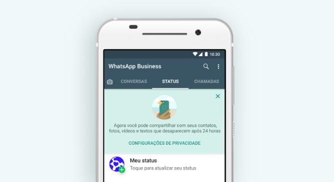 WhatsApp Business: status/Reprodução/Gabrielle Lancellotti
